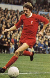 Steve Heighway playing football for Liverpool