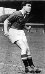 Jackie Blanchflower playing football  for Manchester United