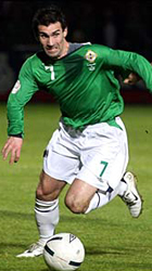 Keith Gillespie Playing football for Northern Ireland