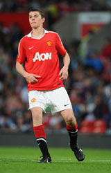 Michael Keane Playing football for Man Utd