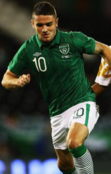 Robbie Brady Playing football for Ireland