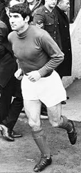 Tony Dunne Playing football for Man Utd
