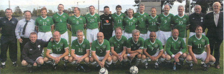 Republic of Ireland veterens team in 2011