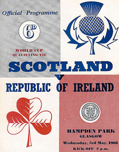 Scotland V Ireland match program 1961