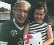 Irish Mascot Mia Lawlor with Mick Lawlor