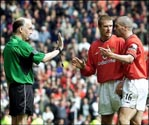 Roy Keane & referee David Elleray