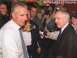 Mick McCarthy and Bertie  Ahern at Dublin Airport