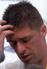 Niall Quinn showing the strain