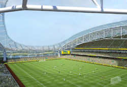Inside view of the Aviva Stadium