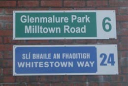 Tallaght Stadium Road Signs